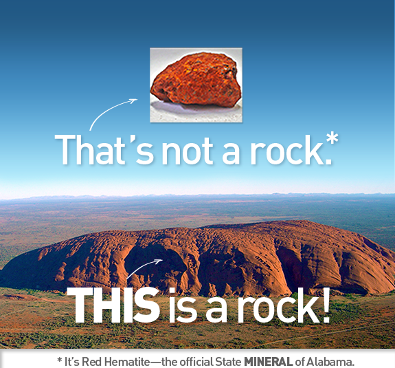 When is a rock not a rock? When it's a mineral!