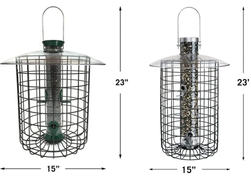 The Backyard Naturalist compares the SDC and B7DC models of Droll Yankees Sunflower/Mixed Seed Domed Cage Feeders.