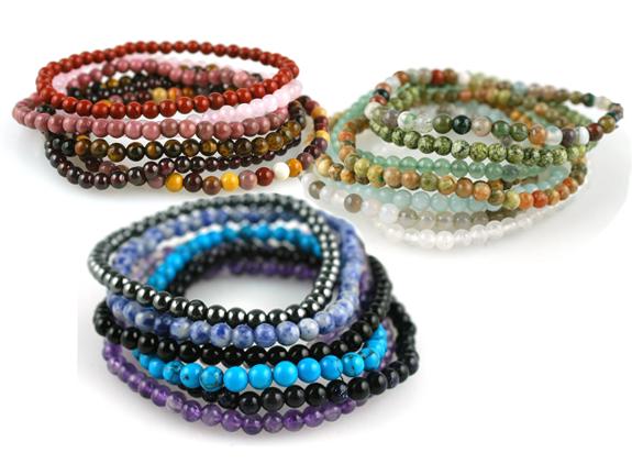 The Backyard Naturalist's Mini Semi-Precious Gemstone Bracelets