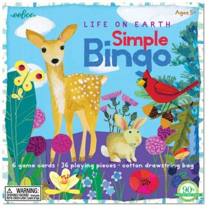 The Backyard Naturalist's favorite pictorial bingo game for young children has beautiful illustrations inspired by nature. Match images of animals and insects to win.