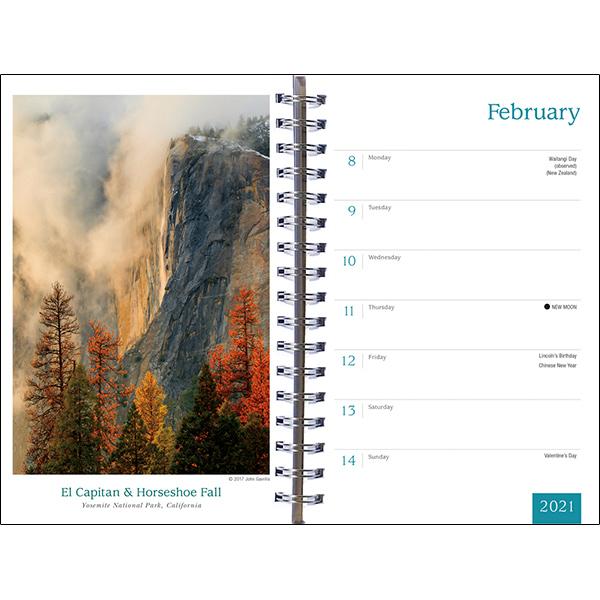 The 2021 Spirit of Place Mini Calendar - inside 1