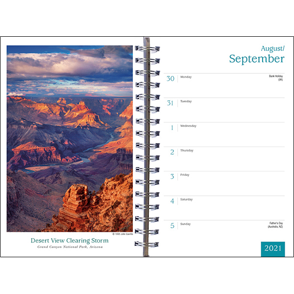 The 2021 Spirit of Place Mini Calendar - inside 2