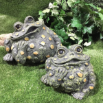 The Backyard Naturalist has Toad Hollow's garden statuary Toads that have unique personality. No two are alike.