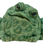 The Backyard Naturalist has Toad Hollow's garden statuary Toads, in Large, Medium and Small sizes.