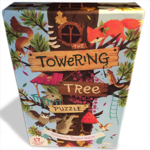 The Backyard Naturalist recommends The Towering Tree Puzzle for hours of imaginative play discovering the lives and activities of woodland creatures.
