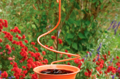 Spiral Hanging Metal Oriole Feeder