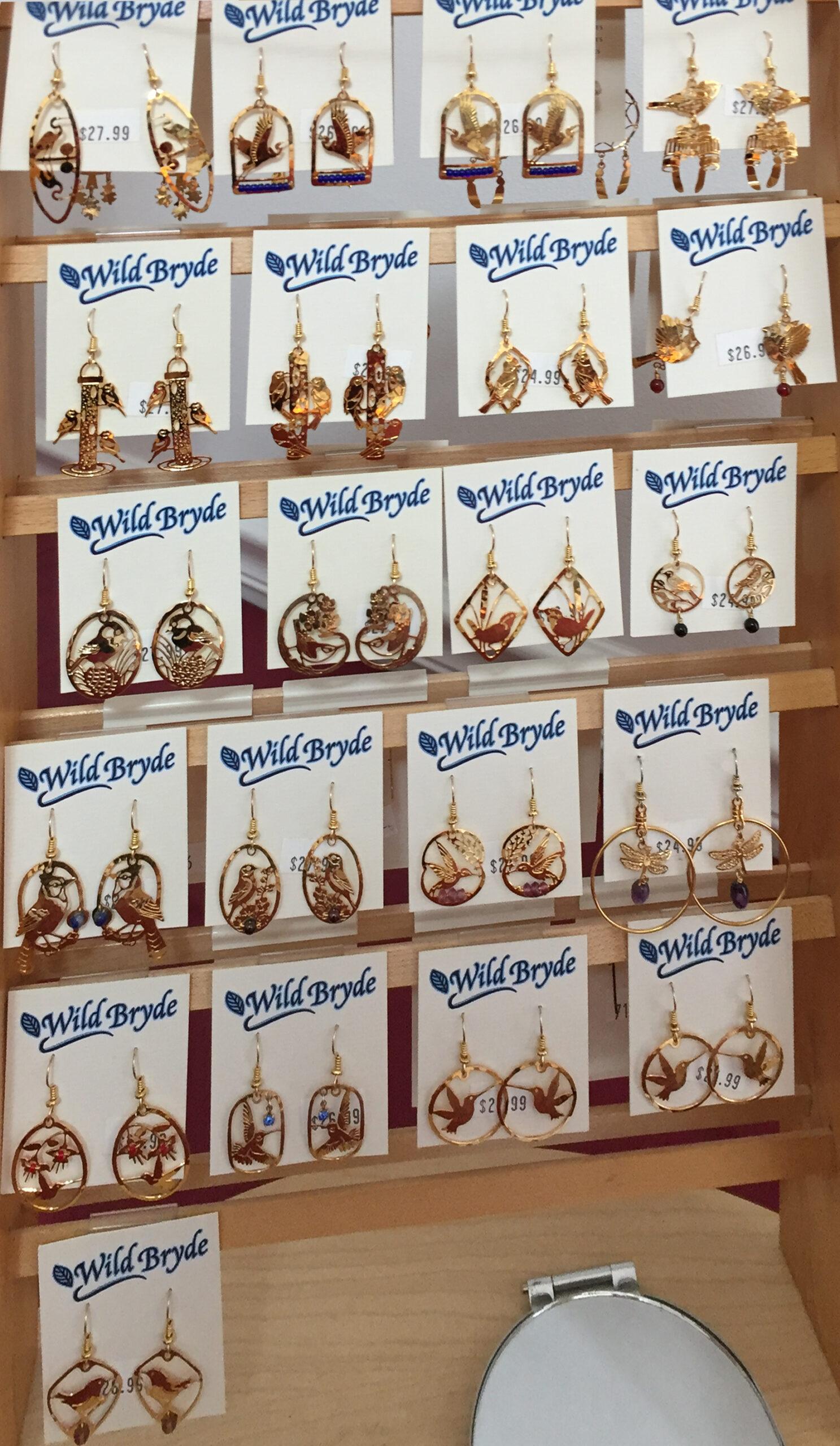 The Backyard Naturalist has Wild Bryde earrings for 2020 in stock.