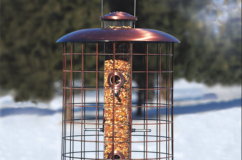 Brushed Copper Caged Feeder