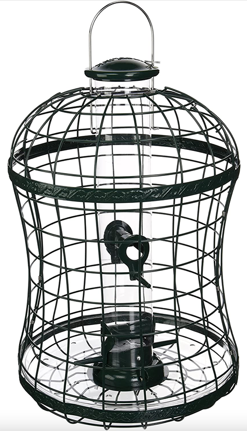 The Backyard Naturalist has Woodlink's Caged Mixed Seed Feeder that features metal grids and removable tube for easy cleaning.