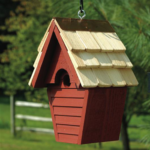 The Backyard Naturalist has many bird house styles available, like this Wren House in Redwood color.