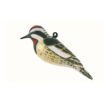 The Backyard Naturalist has Cobane Glass BIrd Holiday Ornament, Yellow-bellied Sapsucker