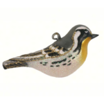 The Backyard Naturalist has Cobane Glass BIrd Holiday Ornament, Yellow-throated Warbler