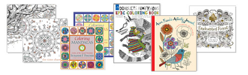New at The Backyard Naturalist store: Coloring Books for Grown Ups. Many more in store and on the way!