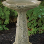 The Backyard Naturalist's concrete bird baths and statuary are handcrafted in the USA.