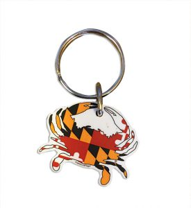 The Backyard Naturalist's Maryland Crab Keychain