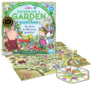 The Backyard Naturalist recommends the award-winning Gathering a Garden game for children ages 5 and up.