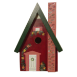 The Backyard Naturalist has hand painted bird houses, hand made and painted in Lehigh Valley, PA. This one is called 'Dream Cottage'.
