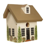 The Backyard Naturalist has hand painted bird houses, hand made and painted in Lehigh Valley, PA. This one is called 'Farm House'.