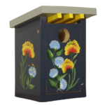 The Backyard Naturalist has hand painted bird houses, hand made and painted in Lehigh Valley, PA. This one is called 'Flower Patch'.