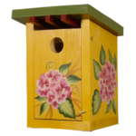The Backyard Naturalist has hand painted bird houses, hand made and painted in Lehigh Valley, PA. This one is called 'Spring Flourish'.