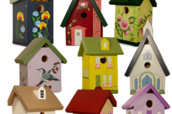 Hand Painted Wild Bird Houses