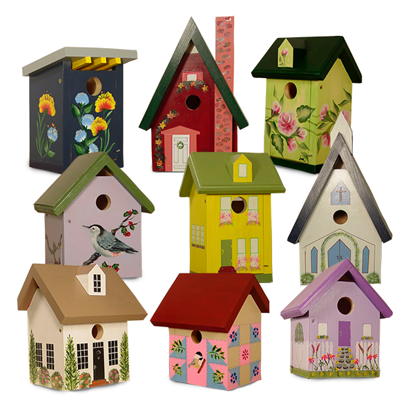 The Backyard Naturalist has hand made and hand painted bird houses. From Lehigh Valley, PA. USA