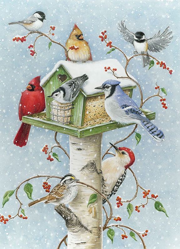 Tweetest Holiday Wishes from The Backyard Naturalist - Tree Free Holiday Greeting Card 2019
