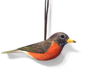 The Backyard Naturalist holiday ornament collection 2019- American Robin - hand made in USA.