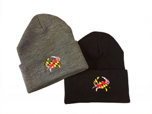 The Backyard Naturalist's Maryland Crab knit caps.