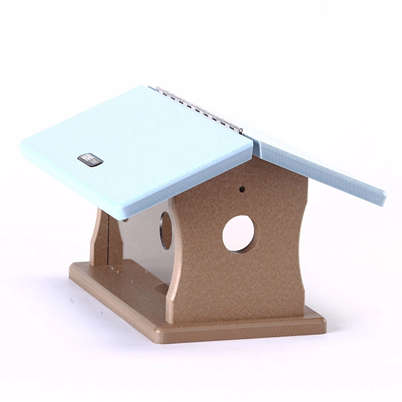 The Backyard Naturalist loves Bluebirds! That's why we stock a selection of feeders especially for Eastern Bluebirds, like this Mealworm Feeder in environmentally friendly recycled materials.