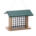 The Backyard Naturalist stocks suet block / cake feeders made of recycled poly-timber.