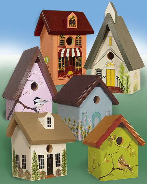 The Backyard Naturalist's hand painted bird house 'Purple Bouquet' is made by Pennsylvania Dutch of untreated first quality 3/4
