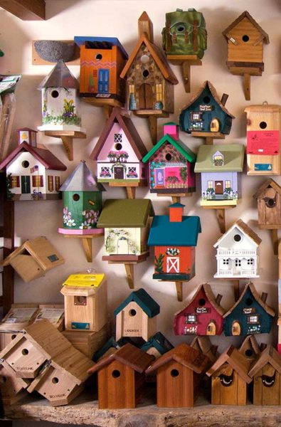The Backyard Naturalist, in Olney Maryland, has wild bird houses for everyone.